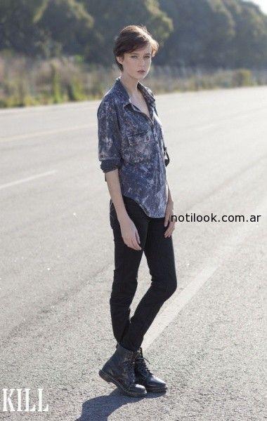 camisa jeans batik verano 2015 kill