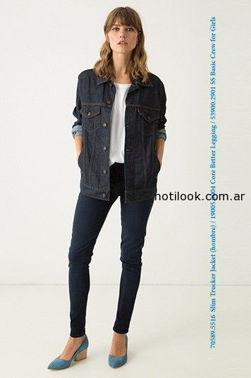 campera jeans levis mujer