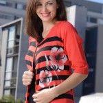 cardigan di madani sweaters rojo y negro verano 2015
