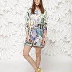vestido corto con mangas leandro dominguez verano 2014