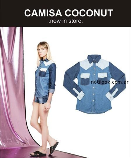 camisa denim verano 2015 mia cruz