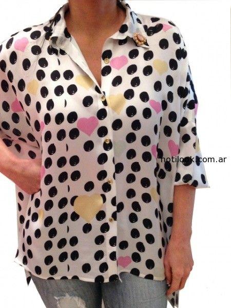 camisas a lunares verano 2015 monica acher