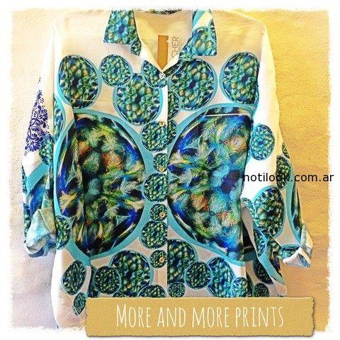 camisas estampadas verano 2015 monica acher