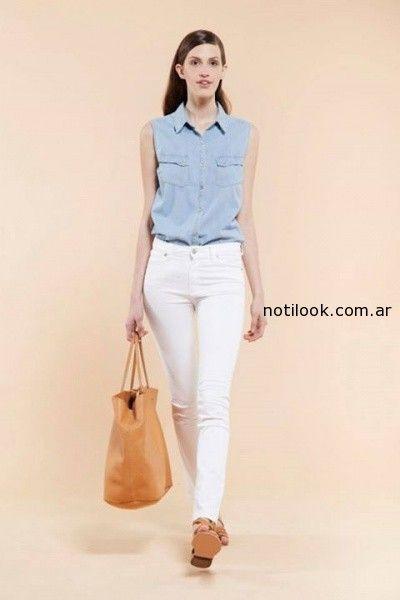 jeans blanco chocolate verano 2015