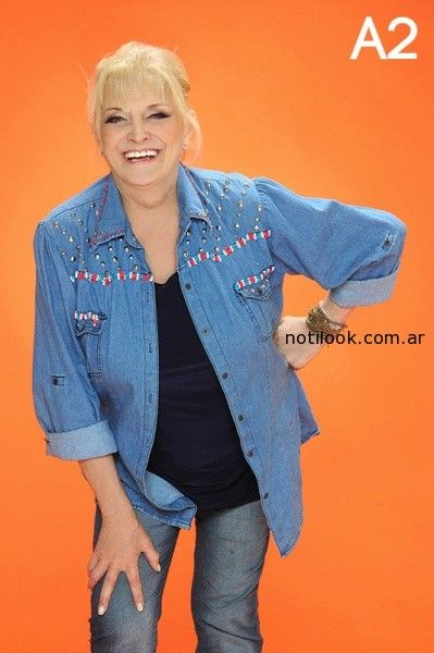 Copia de camisa de jeans talles grandes Loren