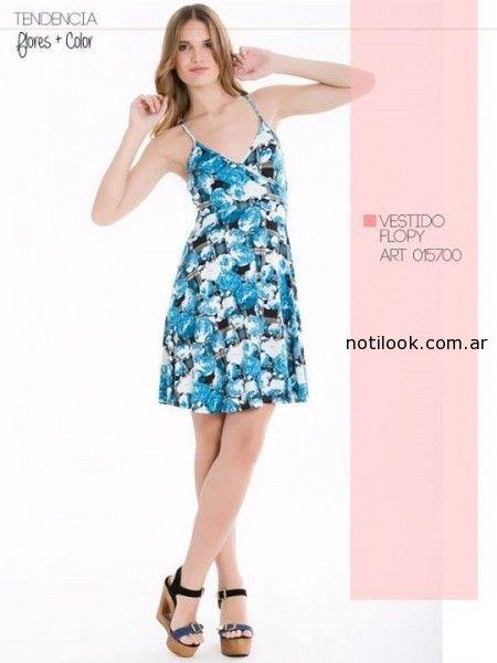 vestido corto estampado de dia City Jenifer Argentina