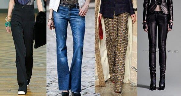 Moda -  pantalones otoño invierno 2015 - tendencias en pantalones palazzos y jeans