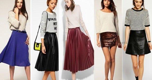 Moda - polleras otoño invierno 2015 - tendencias en faldas cortas y largas - MIDI