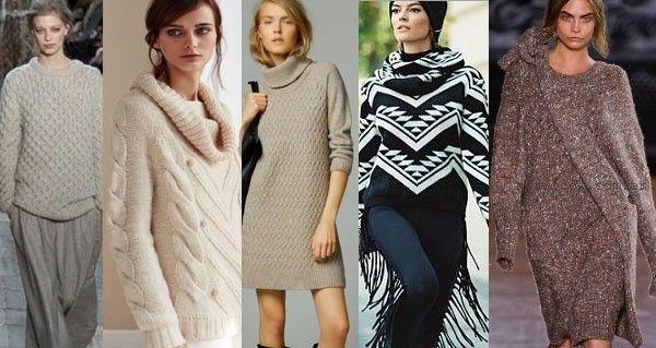 Moda - tejidos otoño invierno 2015 - tendencias en vestidos y sweater tejidos