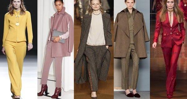 Moda - trajes para mujer otoño invierno 2015 - tendencias en trajes para mujer