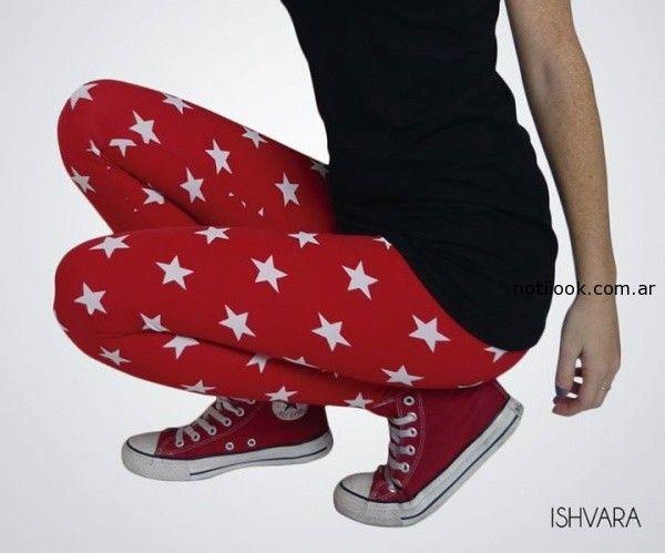 calza con  estrellas ishvara