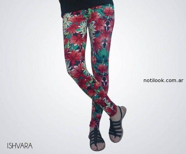 calzas de lycra estampada ishvara verano 2015