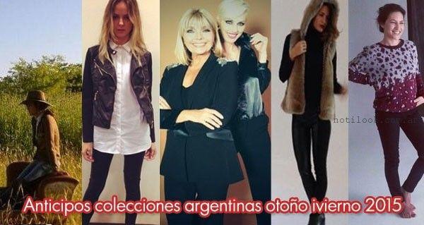 fotos anticipos colecciones argentinas otoño invierno 2015