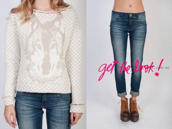 sweater y jeans ossira invierno 2015