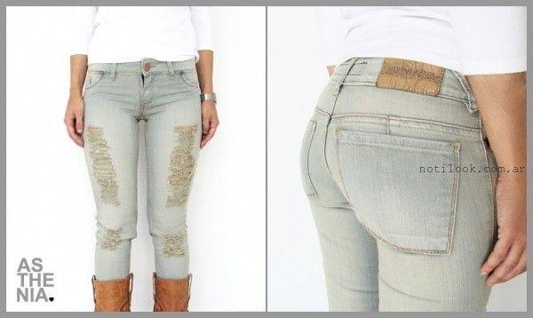 Asthenia Jeans con roturas invierno 2015