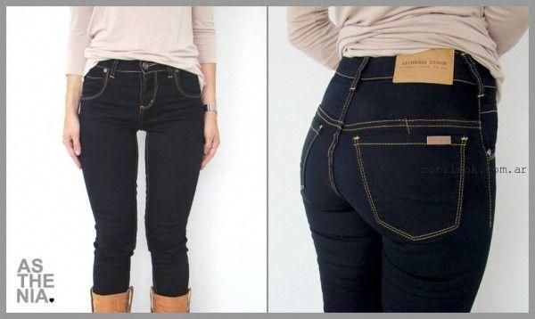 Asthenia Jeans tiro alto invierno 2015