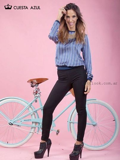 blusas mangas largas invierno 2015 Cuesta Azul