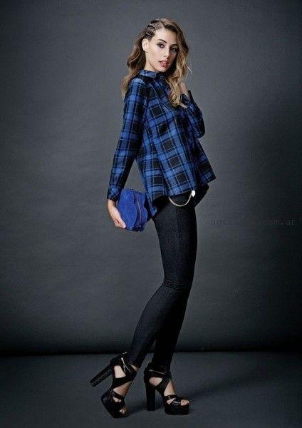 camisa y jeans  Las Oreiro invierno 2015