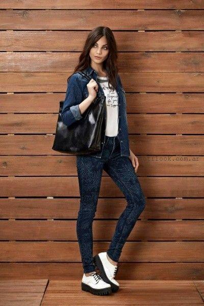 camisa y jeans  chupin Kevingston Mujer invierno 2015