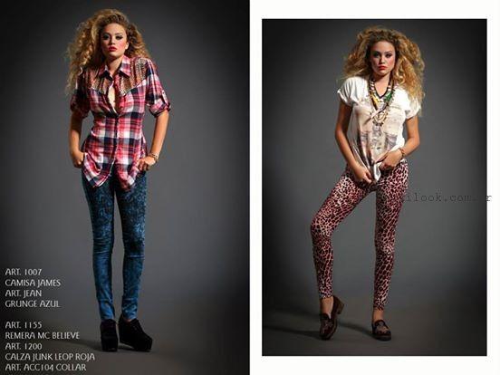 camisas leñadoras femeninas invierno 2015 sophya