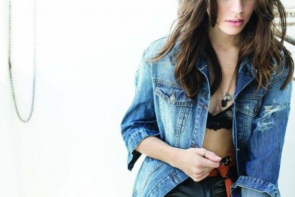 chaqueta de jeans con roturas riffle invierno 2015