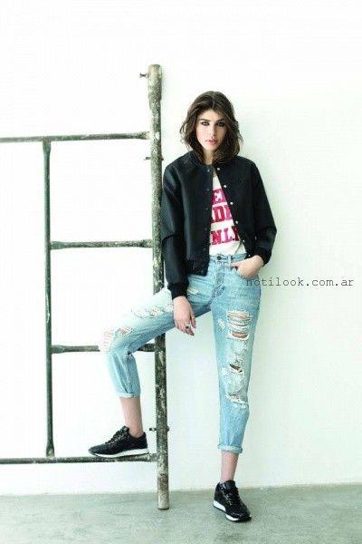 jeans con roturas invierno 2015 riffle