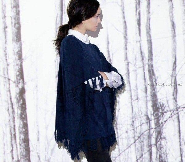 poncho tejido  - Moda Urbana - Nucleo invierno 2015