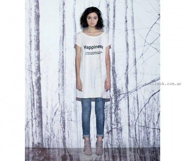 remeraon y jeans chupin  - Moda Urbana - Nucleo invierno 2015