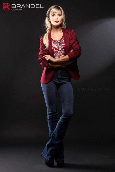 saco blusa y jeans oxford  - Brandel otoño invierno 2015