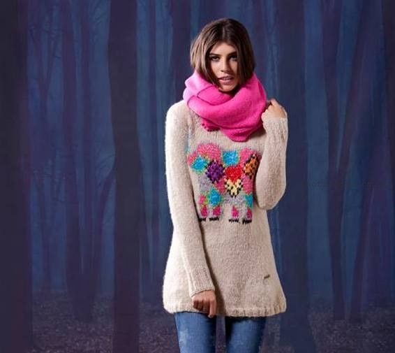 sweater largo - Agustina Saquer invierno 2015