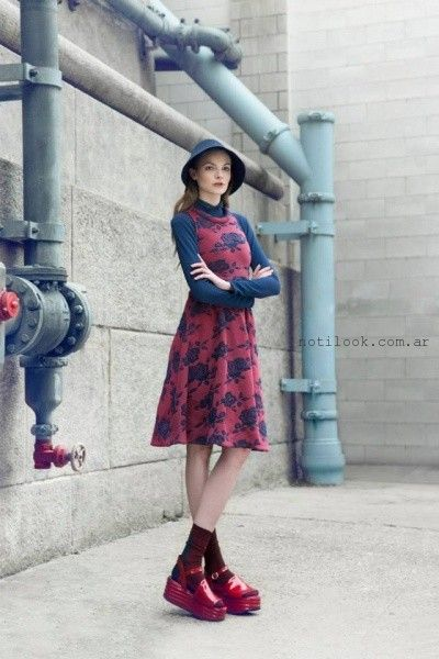 vestido estampado  Las Pepas Otoño invierno 2015