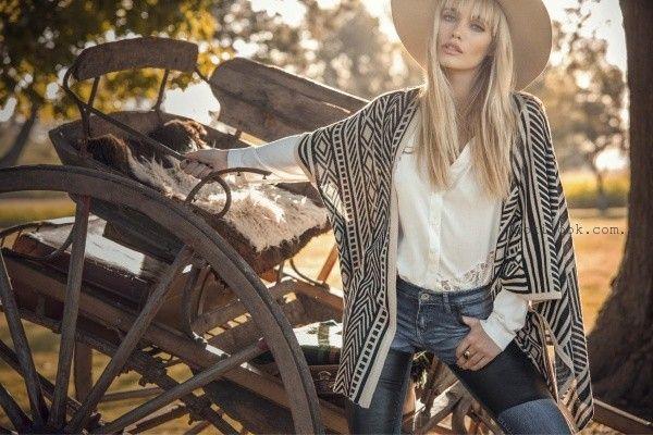 abrigo estilo poncho sweet invierno 2015