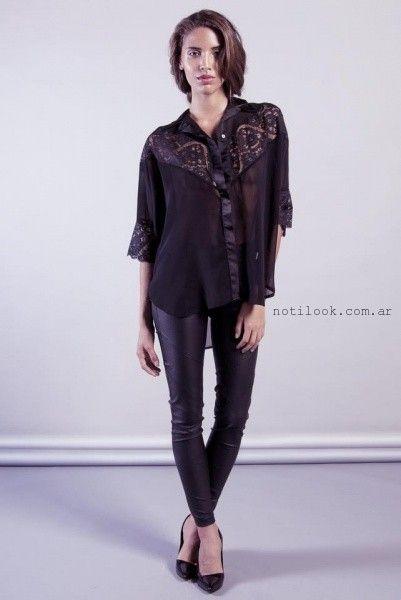 camisa con guipur invierno 2015 Sarawak