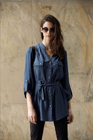 camisa larga otoño invierno 2015 AG Store