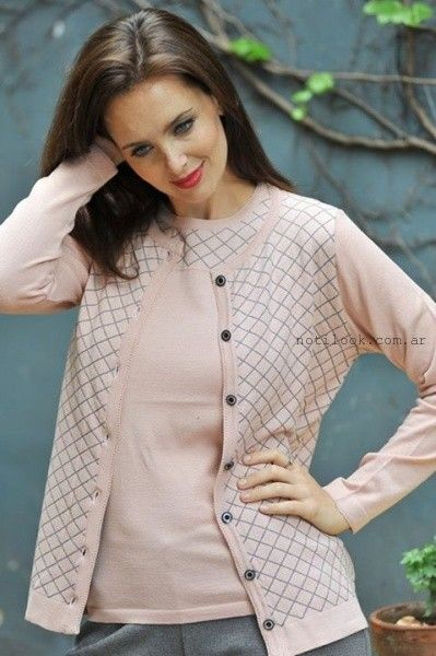 conjunto sweater y cardigan di madani sweater invierno 2015