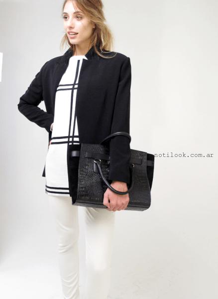 look en blanco y negro PORTSAID - Look otoño invierno 2015