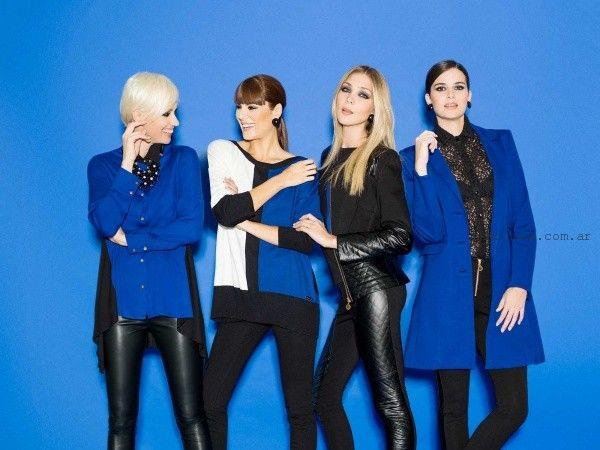 look en negro y azul otoño invierno 2015 Adriana Costantini