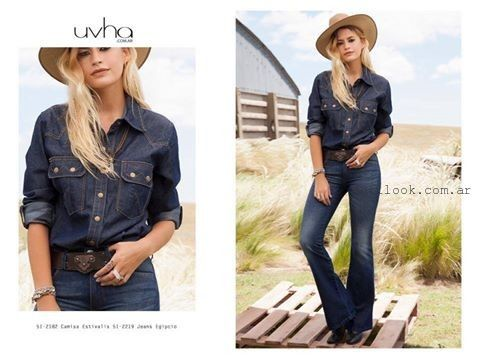 look total denim invierno 2015 Uvha