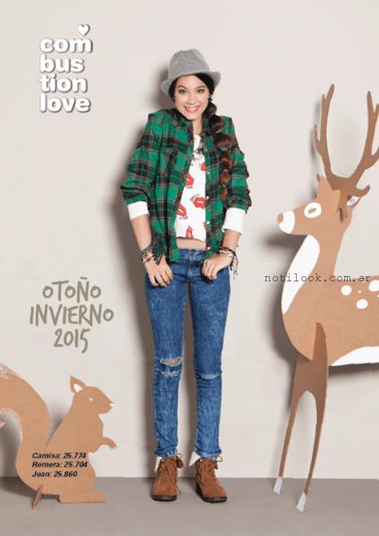 marca de ropa para adolescentes invierno 2015 Combustion Love