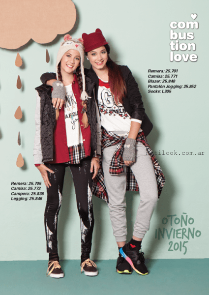 moda juvenil invierno 2015 Combustion Love