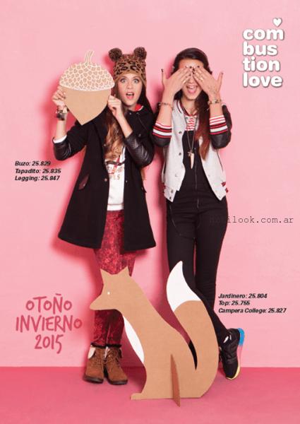 moda para adolescentes invierno 2015 Combustion Love