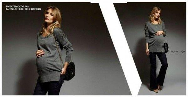 sweater tejido para embarazadas invierno 2015 Maa Maternity