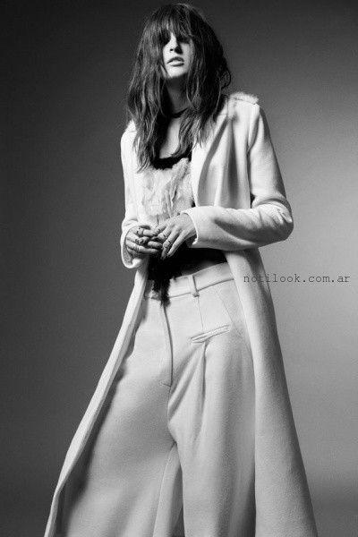 tapado largo y pantalon de vestir - Allo Martinez invierno 2015