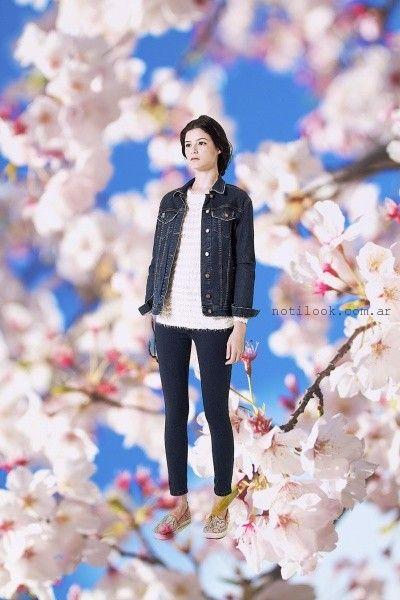 Nare - chupin con campera de jeans otoño invierno 2015