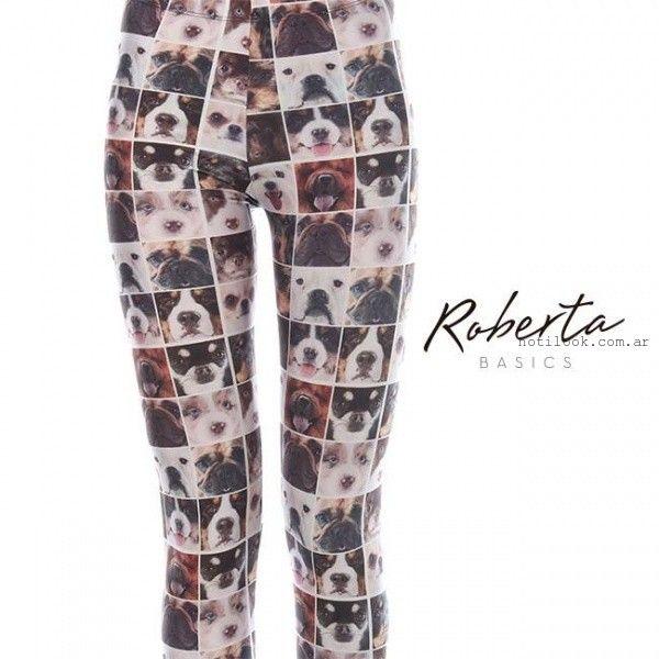 calzas con estampas invierno 2015 Roberta Basics