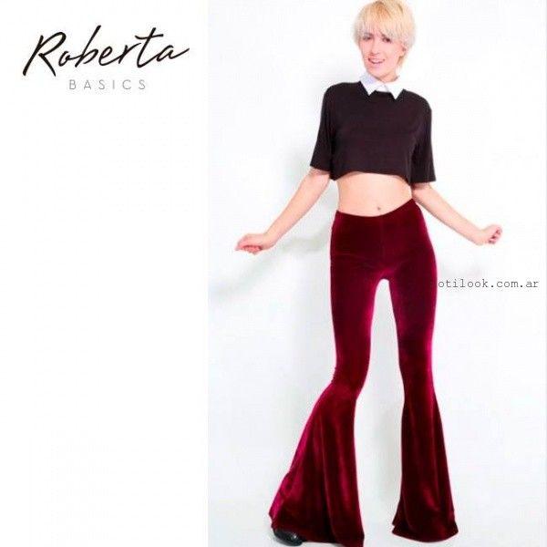 calzas de terciopelo invierno 2015 Roberta Basics