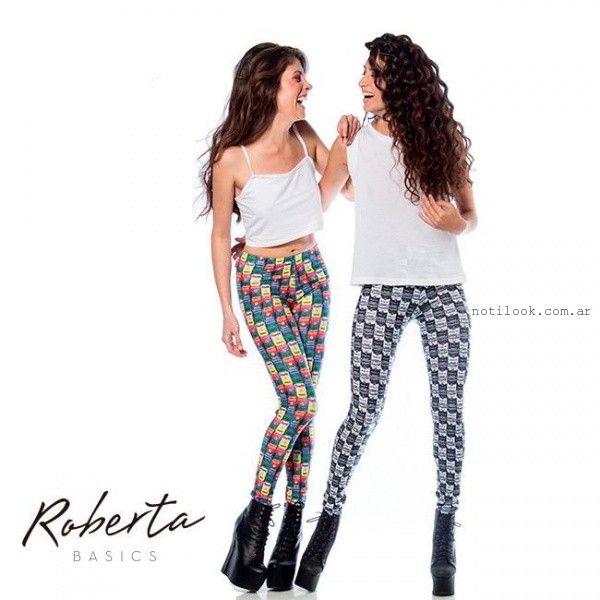 calzas estampadas invierno 2015 Roberta Basics