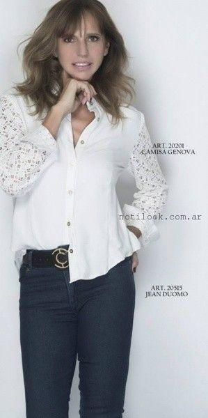 camisa blanca  - Teresa Calandra invierno 2015