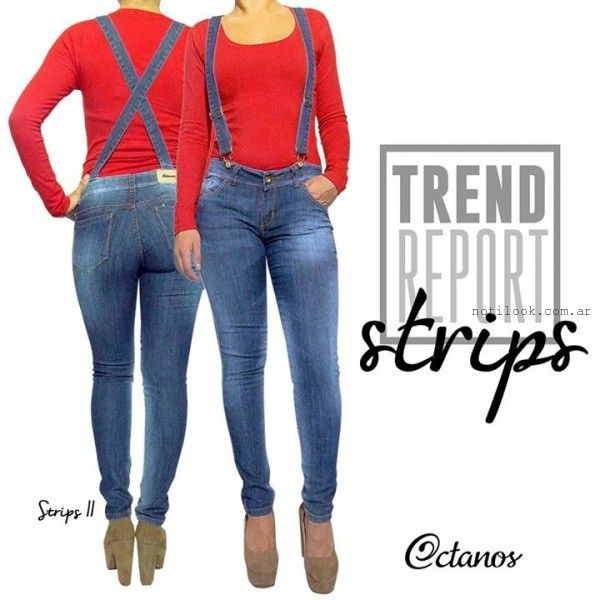 jeans con tiradores invierno 2015 octanos