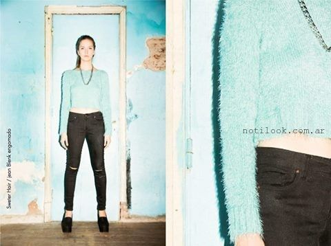 jeans rotos invierno 2015 Agarrate Catalina